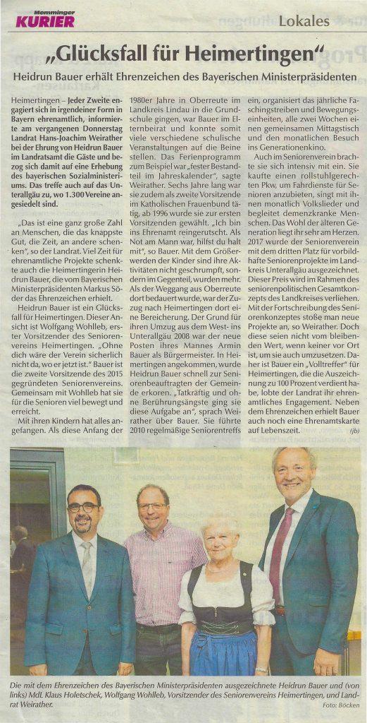 Glücksfall für Heimertingen - Seniorenverein