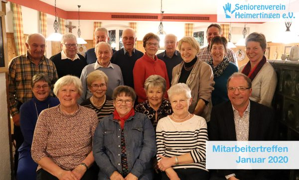 Seniorenverein Heimertingen Mitarbeitertreffen Januar 2020