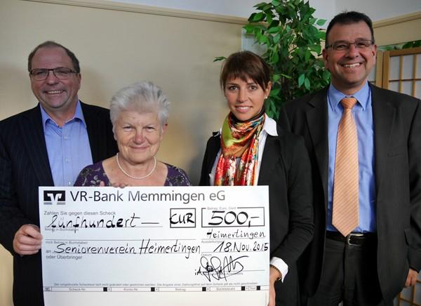 Scheck VR-Bank 2015